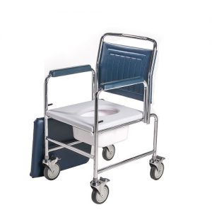 Mobile Commode Adjustable Height