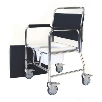 Bariatric Mobile Commode with Detachable Armrests
