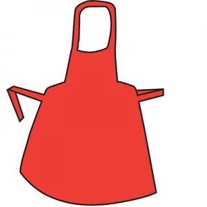 Polythene Aprons – Roll Red