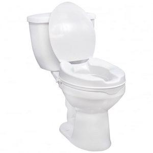 """Savanah 4"""" Raised Toilet Seat With Lid"""