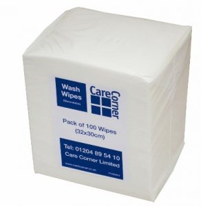 Personal Care Dry Wash Wipes (Pack of 100)