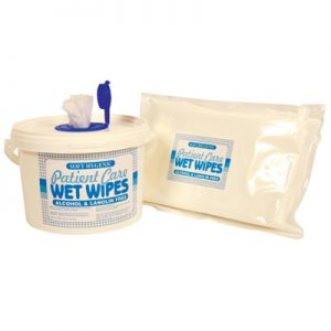 tub of incontinence wipes