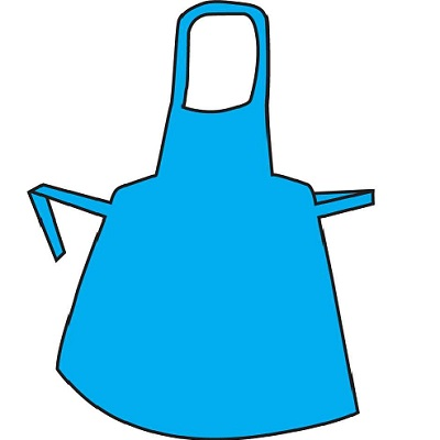 Polythene Aprons Flat Pack Blue