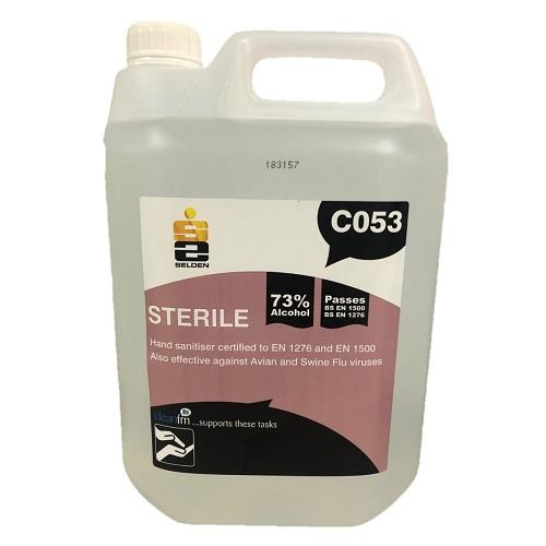 so sterile hand sanitiser hand gel 5 litres
