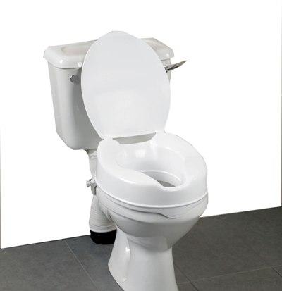 Savanah 2 Quot Raised Toilet Seat With Lid Incontinence